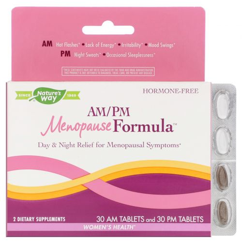 Enzymatic Therapy, AM/PM Формула менопаузы, Формула для женщин, 60 таблеток