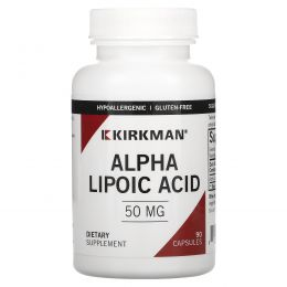 Kirkman Labs, Альфа-липоевая кислота, 50 мг, 90 капсул