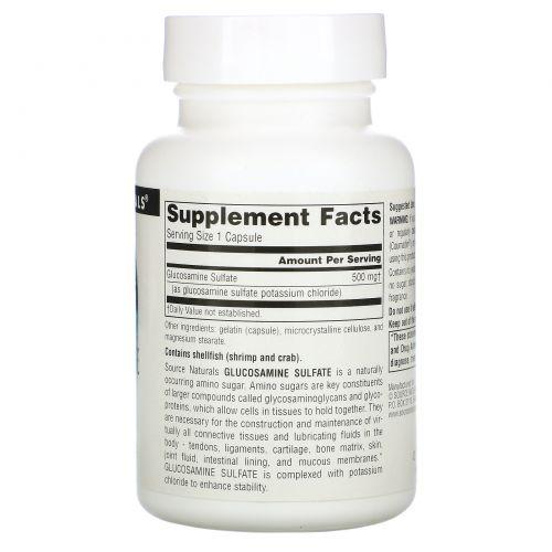 Source Naturals, Глюкозамин сульфат, 500мг, 60капсул