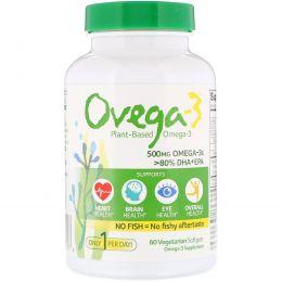 Ovega-3, Ovega-3, ДГК + ЭПК, 500 мг, 60 вегетарианских капсул