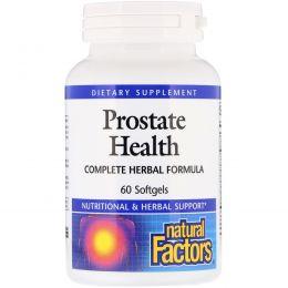 Natural Factors, Здоровье предстательной железы, комплексная травяная формула, 60 капсул