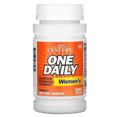 21st Century, One Daily для женщин, 100 таблеток