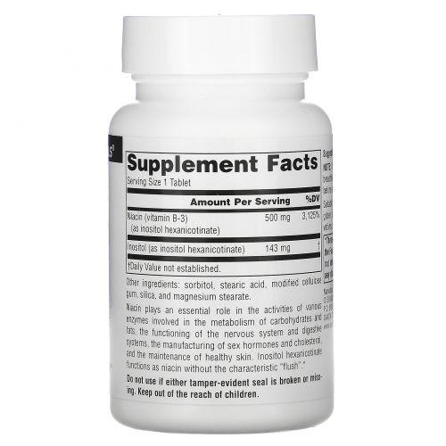Source Naturals, Ниацин - никотиновая кислота без приливов жара, 500 мг, 60 таблеток