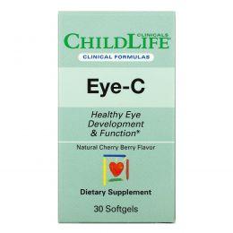 Childlife Clinicals, Eye-C, со вкусом натуральной вишни, 30мягких таблеток