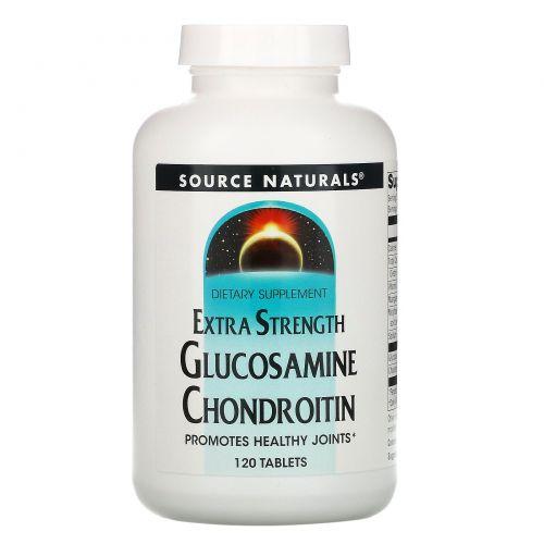 Source Naturals, Усиленный глюкозамин и хондроитин, 120 таблеток