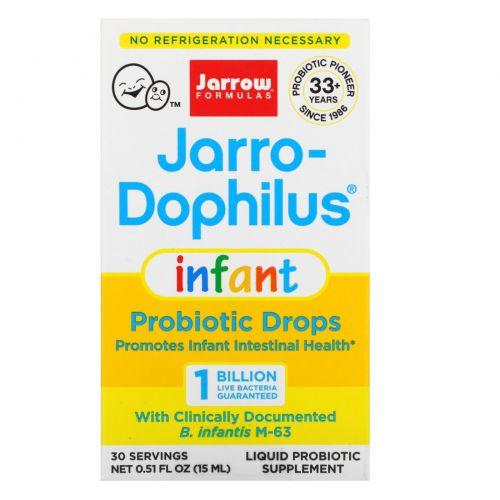 Jarrow Formulas, Детские капли Baby's Jarro-Dophilus Drops, жидкие капли, 8 мл