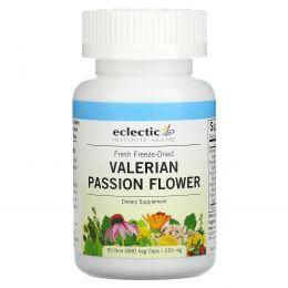 Eclectic Institute, Валериана и страстоцвет, 250 мг, 90 растительных капсул без ГМО