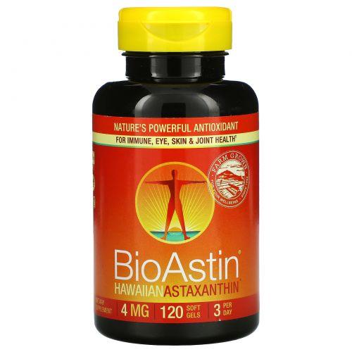 Nutrex Hawaii, BioAstin, Hawaiian Astaxanthin, 4 mg, 120 Soft Gels