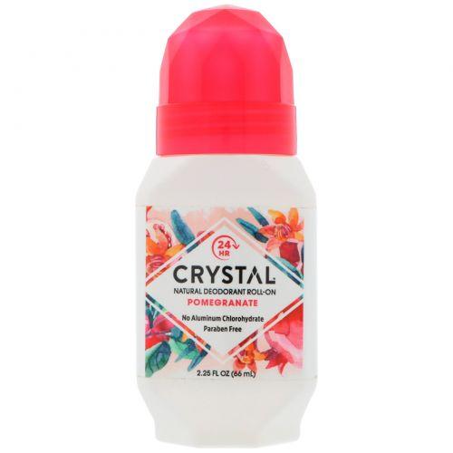 Crystal Body Deodorant, Crystal Essence, минеральный шариковый дезодорант, гранат, 2,25 жидких унций (66 мл)