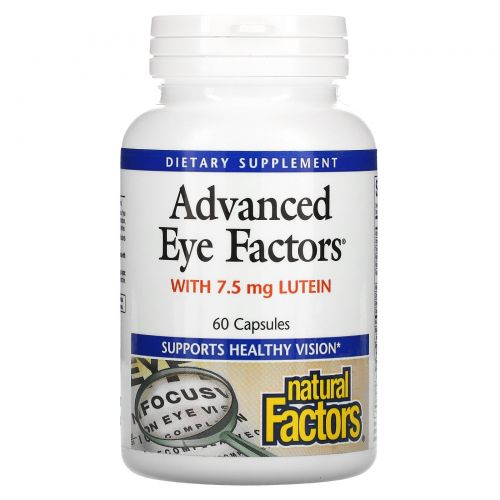 Natural Factors, Современные факторы для глаз, с 15 мг лютеина, 60 капсул