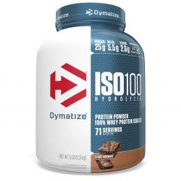Dymatize Nutrition, ISO-100 гидролизированный, 100%-ный сывороточный изолят белка, мягкое брауни, 5 фунтов (2,27 кг)