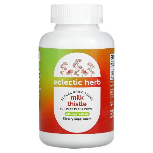 Eclectic Institute, Расторопша пятнистая, 600 мг, 240 вегетарианских капсул без ГМО