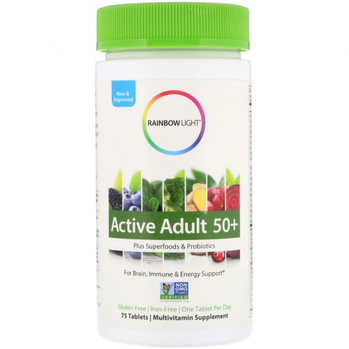 Rainbow Light, Active Adult 50+, 75 Tablets