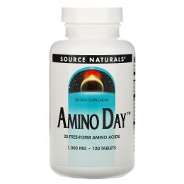 Source Naturals, Amino Day, 1,000 мг, 120 таблеток
