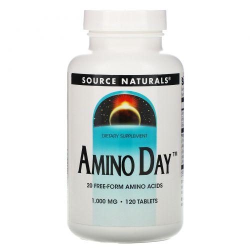 Source Naturals, Amino Day, 1,000 мг, 120 таблеток