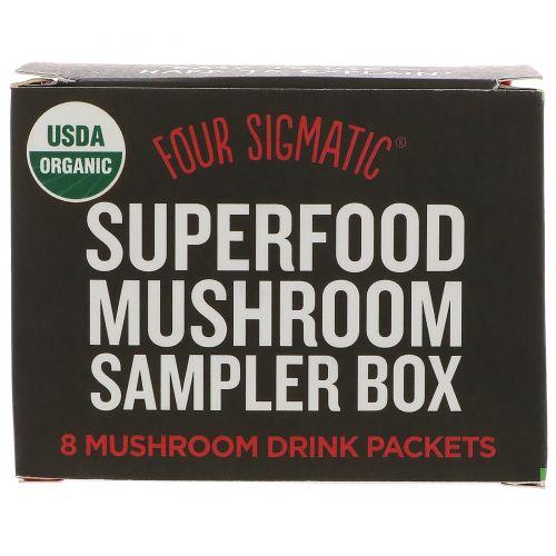 Four Sigmatic, Набор образцов грибов с суперсвойствами, 8 пакетиков для приготовления напитка