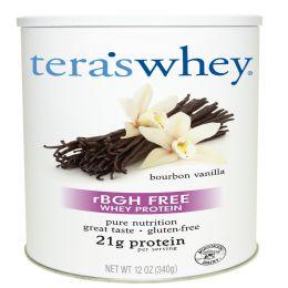Tera's Whey, rBGH-Free Whey Protein, Bourbon Vanilla, 12 oz (340 g)
