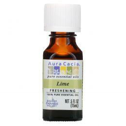 Aura Cacia, 100%-ное чистое эфирное масло, лайм, 0,5 ж. унц. (15 мл)