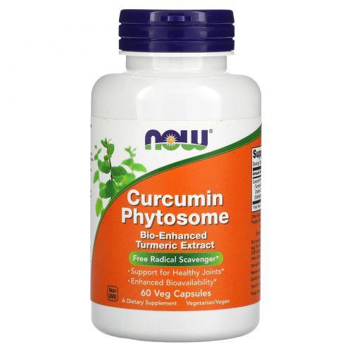 Now Foods, Фитосома куркумина, 60 растительных капсул