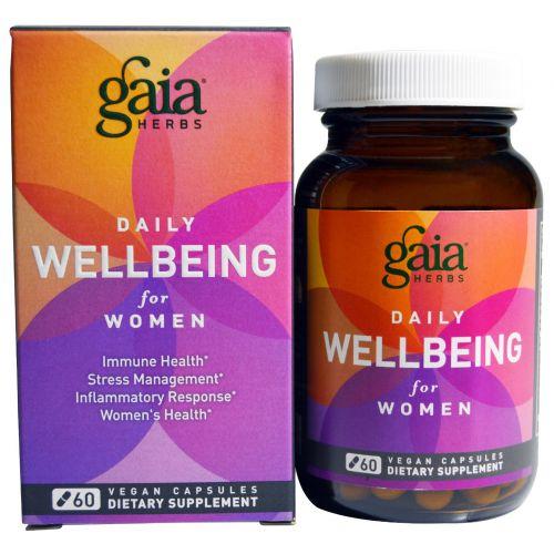 Gaia Herbs, Ежедневное хорошее самочувствие женщин, 60 веганских капсул