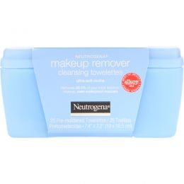 Neutrogena, Makeup Remover Cleansing Towelettes, Ultra-Soft Cloths, 25 Pre-Moistened Towelettes