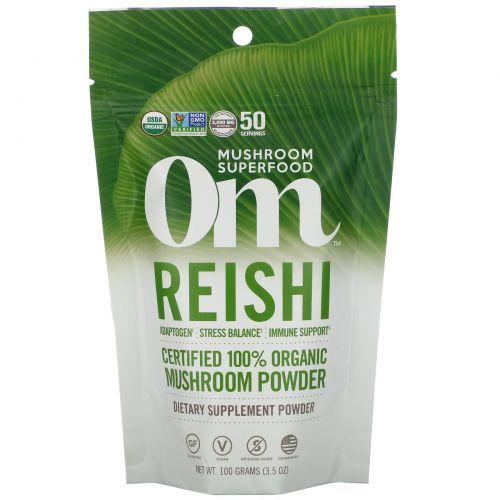 Organic Mushroom Nutrition, Рейши, грибной порошок, 3.57 унций (100 г)