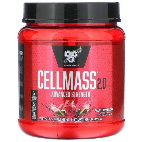 BSN, Cellmass 2.0, концентрированная добавка для восстановления после тренировок, арбуз, 1.06 фунта (485 г)