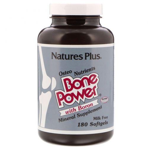 Nature's Plus, Bone Power, сила костей с бором, 180 желатиновых капсул