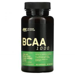 Optimum Nutrition, Аминокислотный комплекс BCAA 1000 Caps, большая упаковка, 1 г, 60 капсул