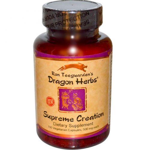Dragon Herbs, Supreme Creation, 500 мг, 100 растительных капсул