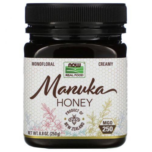 Now Foods, Real Food, Manuka Honey, MGO 250, 8.8 oz (250 g)