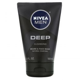 Nivea, Men, Deep Cleansing Beard & Face Wash, 3.3 fl oz (100 ml)
