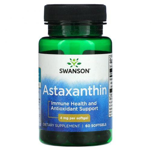 Swanson, Astaxanthin, 4 mg, 60 Softgels