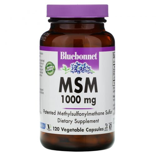 Bluebonnet Nutrition, МСМ, 1000 мг, 120 растительных капсул