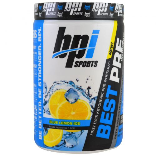 BPI Sports, Best Pre Workout, Blue Lemon Ice, 11.11 oz (315 g)