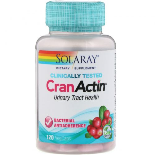 Solaray, CranActin, экстракт клюквы, AF, 120 вегетарианских капсул