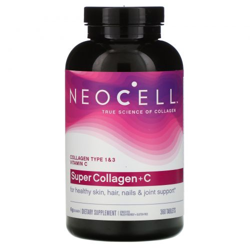 Neocell, Super Collagen+C, Type 1 & 3, 6,000 mg, 360 Tablets