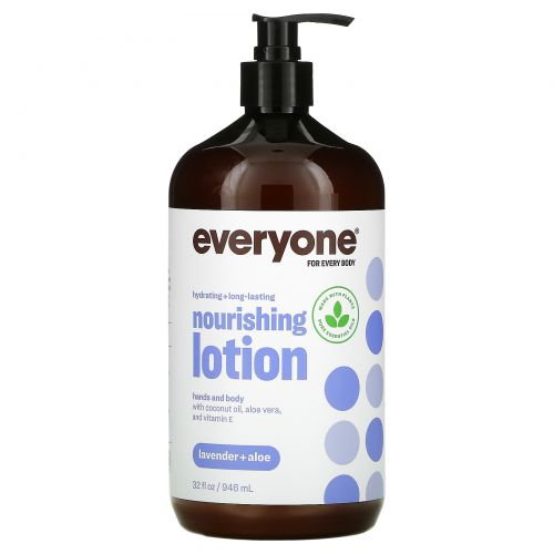 EO Products, Лосьон Everyone для всех и каждого, Лаванда + Алоэ, 32 ж. унции (960 мл)