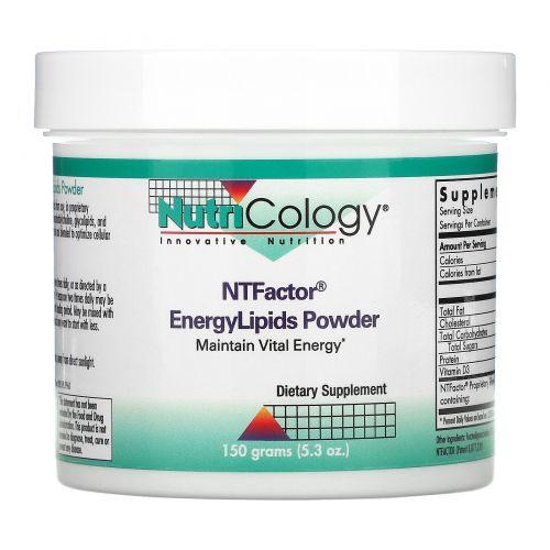 Nutricology, NT Factor, энергетические липиды в порошке, 150 граммов