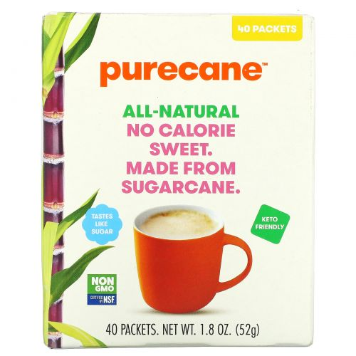Purecane, No Calorie Sweet, 40 Packets 1.3 g Each