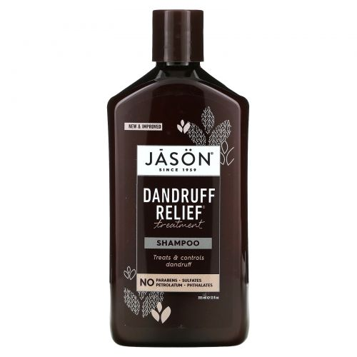 Jason Natural, Лечебно-профилактический шампунь Dandruff Relief, 355мл