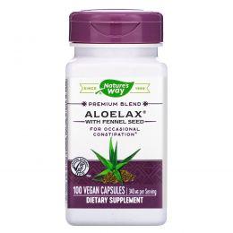 Nature's Way, Aloelax с семенами фенхеля, 530 мг, 100 растительных капсул