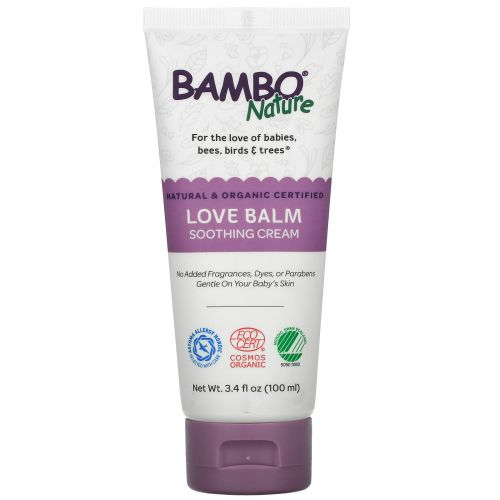 Bambo Nature, Love Balm Soothing Cream, 3.4 fl oz (100 ml)