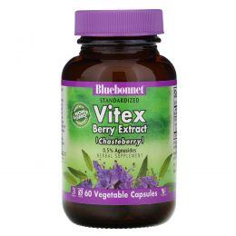 Bluebonnet Nutrition, Экстракт ягод витекса, 60 растительных капсул