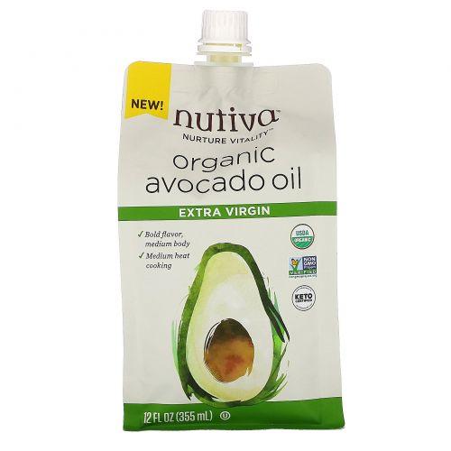 Nutiva, органическое масло авокадо, первого отжима, 355мл (12жидк.унций)