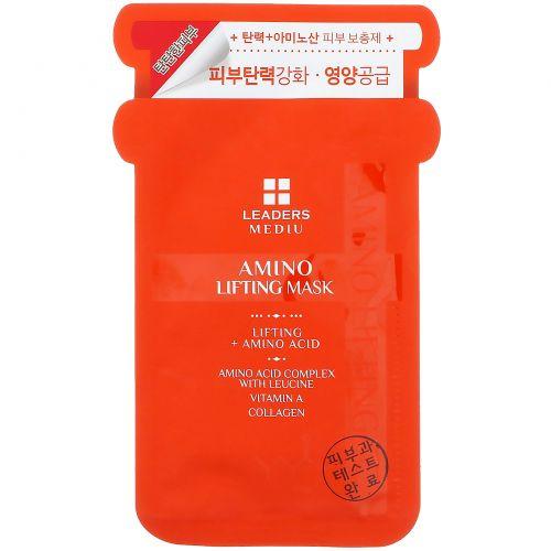 Leaders, Mediu, маска для лифтинга с аминокислотами, 1 маска, 25 мл