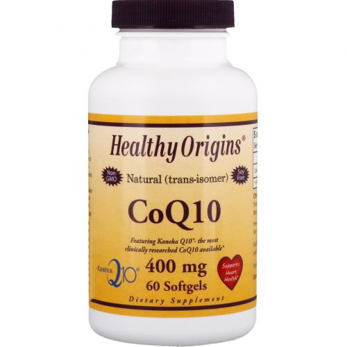 Healthy Origins, CoQ10, Kaneka Q10, 400 mg, 60 Softgels