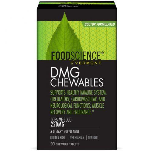 FoodScience, Aangamik Диметилглицин, 250 мг, 90 жевательных таблеток