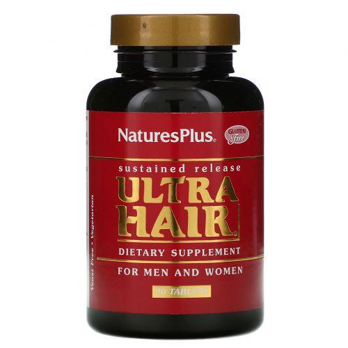 Nature's Plus, Пищевая добавка «Ультра волосы», для мужчин и женщин, 90 таблеток