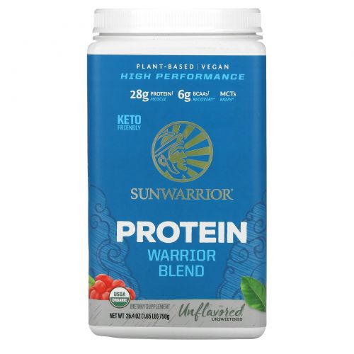 Sunwarrior, Warrior Blend, Plant-Based Organic Protein, Natural , 1.65 lb (750 g)